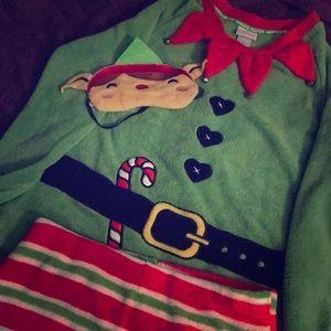 NWT elf pajamas set Christmas grinch Santa elves